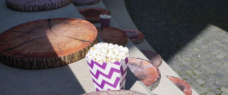 Kino mit Popcorn