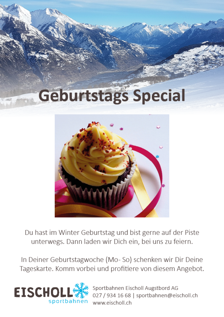 Geburtstag Spezial Angebot